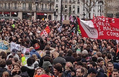 Manif Bastille décembre 19